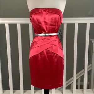 As U Wish Formal- Strapless dress- color Hot pink